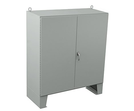 Floor standing electrical enclosure