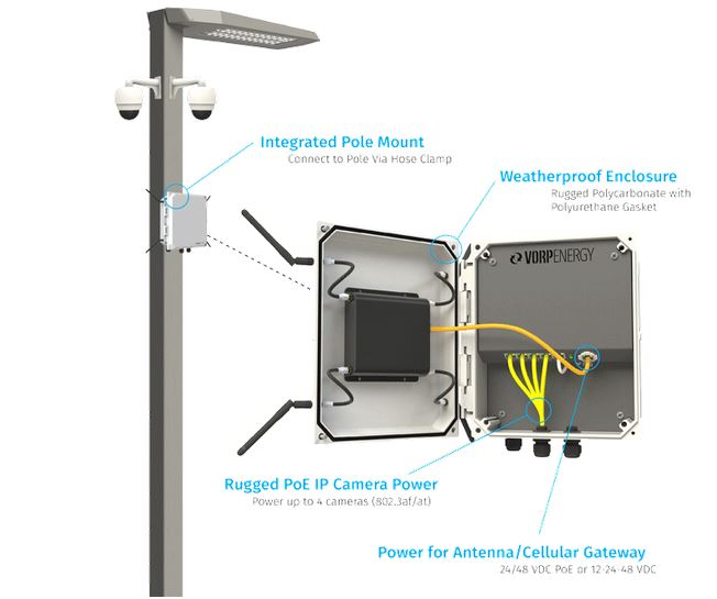 Street light with electrical enclosure