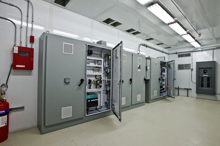 Electrical enclosures for servers