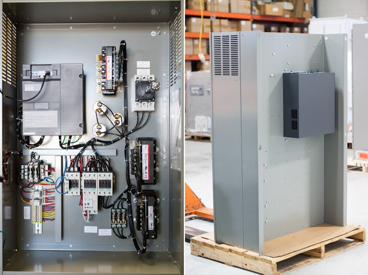 VFD in electrical enclosure