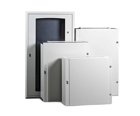 Different sizes of electrical enclosures