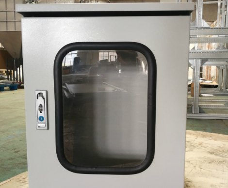stainless steel enclosure with window