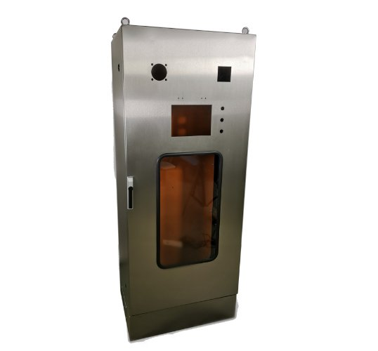 stainless steel free standing enclosure with window