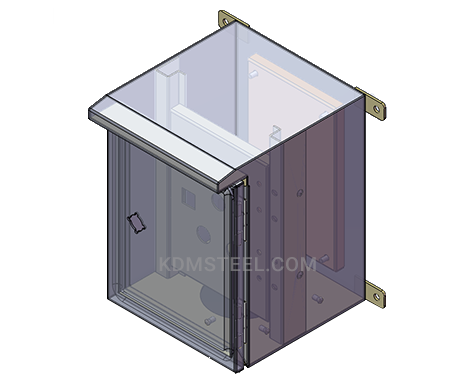 Nema 4 wall mount lockable electrical enclosure