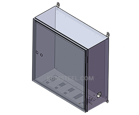 Nema 4X wall mount lockable electrical enclosure