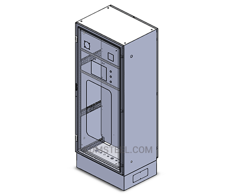 Single door steel lockable electrical enclosure with window