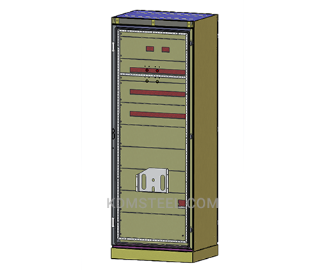 carbon steel free standing lockable electrical enclosure with pocket