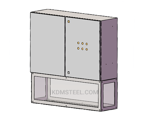 double door floor stand NEMA 4R steel electrical enclosure