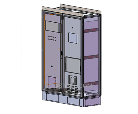 double door free standing steel electrical enclosure