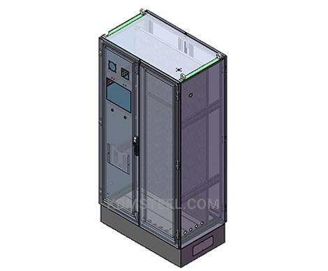 double door free standing weather proof electrical enclosure with door lock