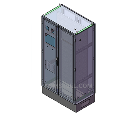 double door free standing weather proof steel electrical enclosure with door lock