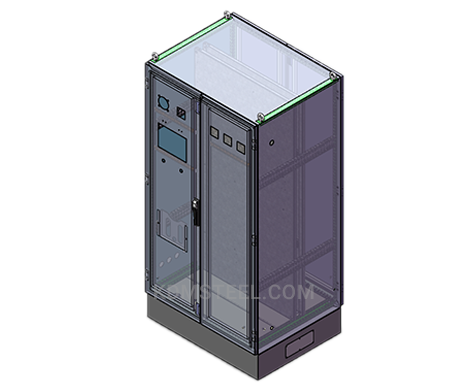 double door stainless steel free standing lockable electrical enclosure