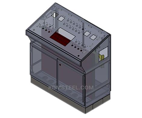 double door steel control cabinet