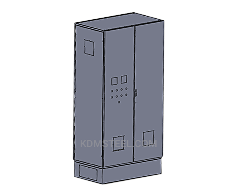 double door steel electrical enclosure with handle
