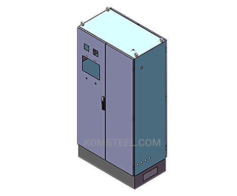 double door steel free standing electrical enclosure