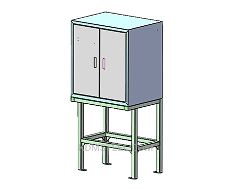 double door steel lockable electrical enclosure
