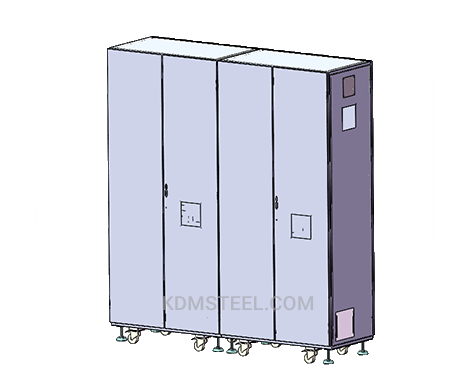 floor mount multi door steel electrical enclosure
