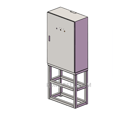 floor stand lockable electrical box