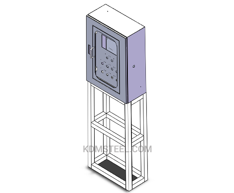 floor stand lockable steel electrica cabinet