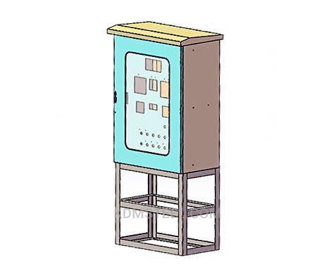floor stand steel modular enclosure