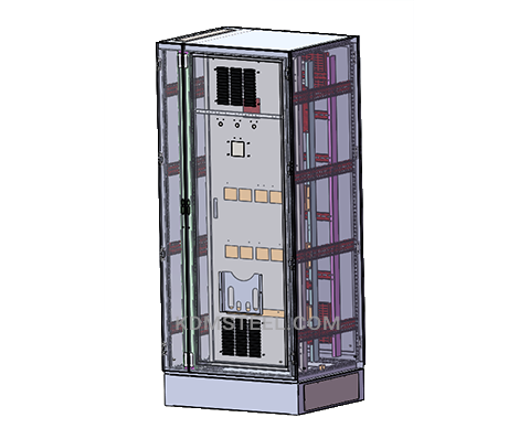 free standing steel electrical control enclosure with file pocket