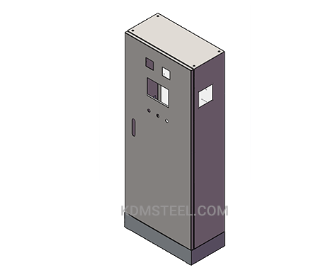 free standing steel electrical enclosure with lock