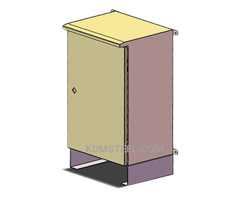 free standing steel enclosure