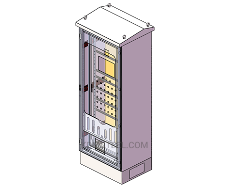lockable outdoor free standing electrical enclosure