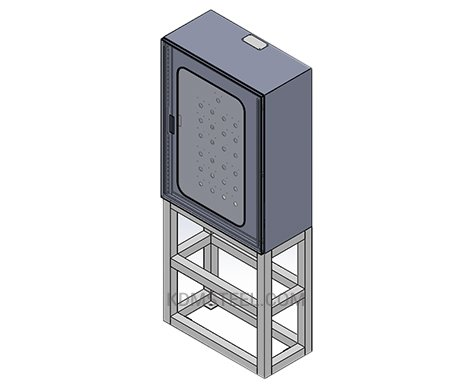 lockable steel electrical enclosure with polycarbonate window