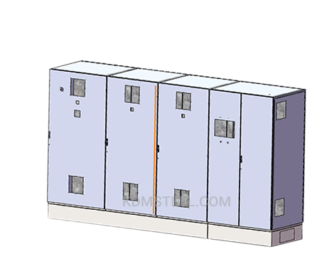multi door free standing steel electrical enclosure