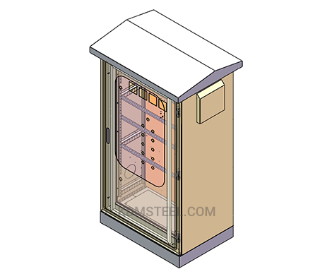 outdoor free standing electrical cabinet with window