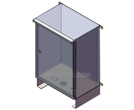 outdoor steel wall mount lockable electrical enclosure