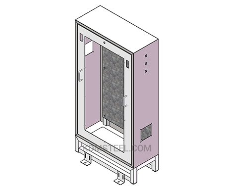 single door steel free standing electrical enclosure with window