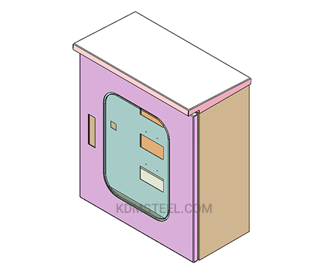 small electrical box with transparent window