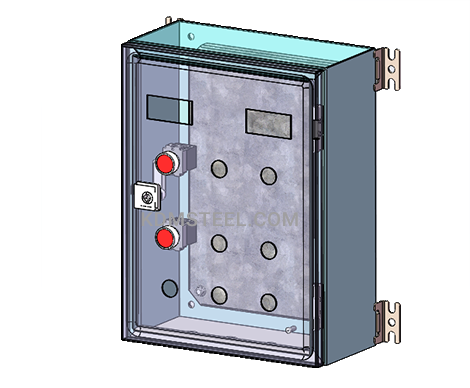 stainless steel NEMA 3 switch wall mount electrical enclosure