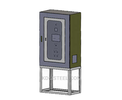 stainless steel lockable electrical enclosure with floor mount