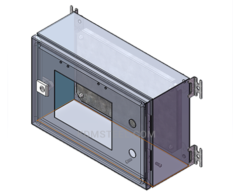 stainless steel wall mount lockable electrical enclosure