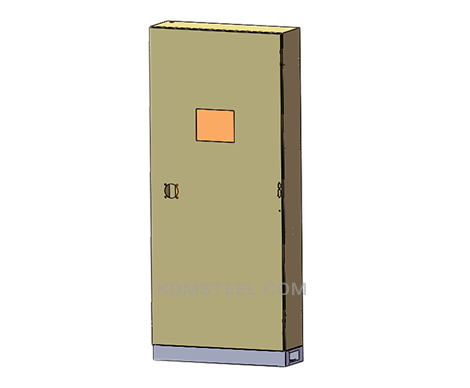 steel free standing enclosure with viewing door