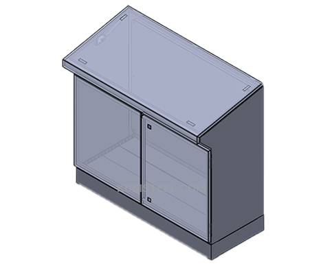 2 door custom desk console enclosure