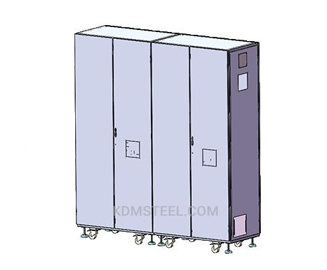3 door free standing Galvanized Steel Enclosure