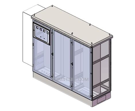 3 door free standing electrical enclosure NEMA type 12 rating