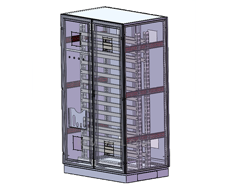 Free standing steel industrial cabinet enclosures