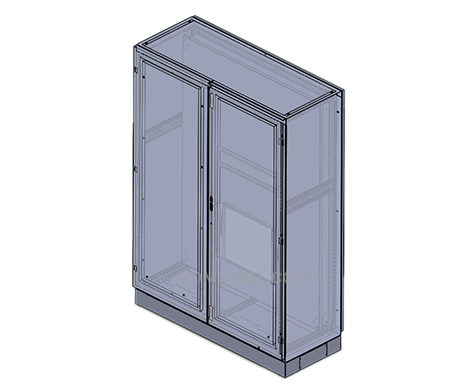 IP 55 double door free standing NEMA 3 enclosure