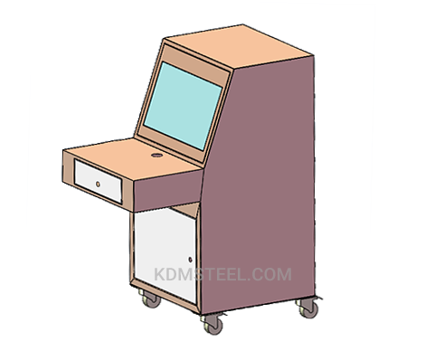 IP 56 steel desk console enclosure