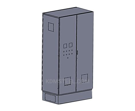 IP 57 double door free standing Galvanized Steel Enclosure