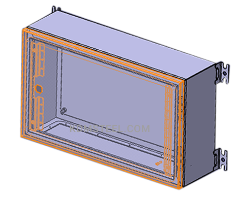IP57 stainless steel wall mount cabinet