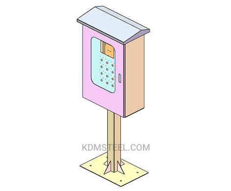 Lockable outdoor control panel enclosure