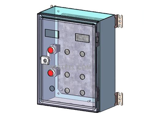 NEMA 3 switch wall mount Galvanized Steel Enclosure