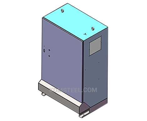 NEMA 4 hinged stainless steel electrical enclosure