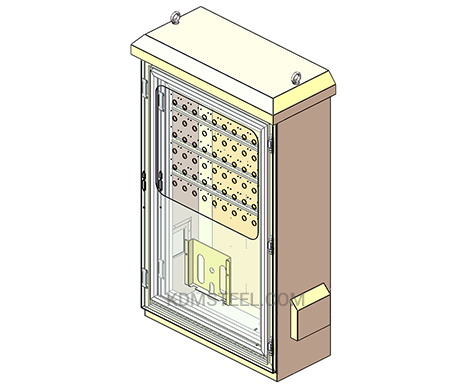 NEMA 4 outdoor SS electrical enclosure with window